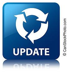 blue egyenesen, gombol, korszerűsíteni, (refresh, icon)