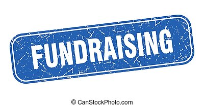 blue egyenesen, stamp., aláír, grungy, fundraising