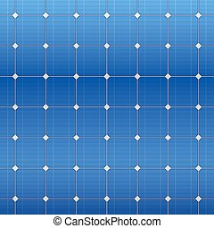 Blue electric solar panel pattern. Vector