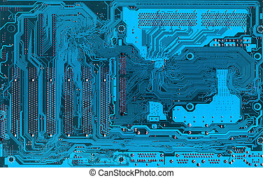 Blue Electronic background texture