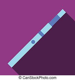 Blue electronic cigarette icon, flat style
