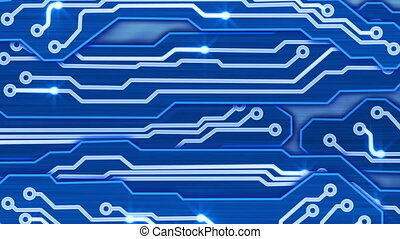 blue electronic circuit plates loop