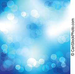 Blue elegant abstract background with bokeh lights