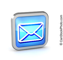 blue email button icon on a white background
