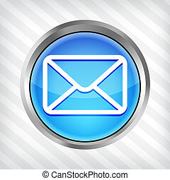 blue email button icon