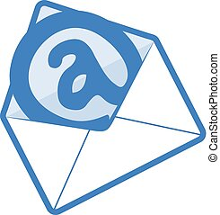 blue email icon design