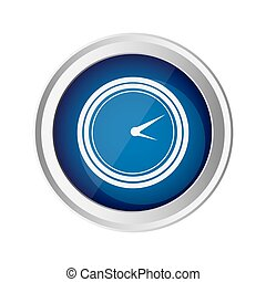 blue emblem clock icon, vector illustraction design image