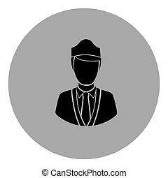 blue emblem guard person icon - blue emblem person icon,...