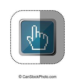blue emblem hand cursor - blue emblem haand cursor, vector...