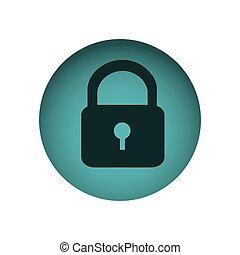 blue emblem lock icon