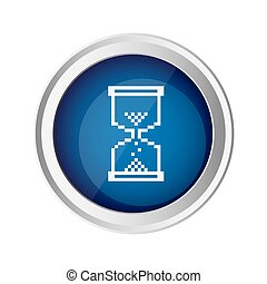 blue emblem mouse hourglass cursor icon