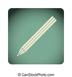 blue emblem pencil icon, vector illustraction design image