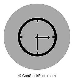 blue emblem sticker clock icon