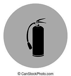 blue emblem sticker extinguisher icon