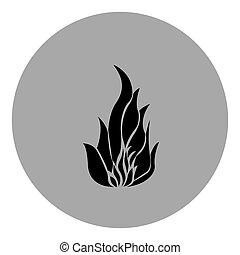 blue emblem sticker fire icon
