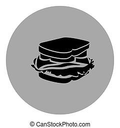 blue emblem sticker sandwich icon