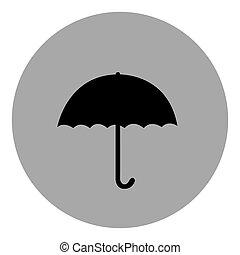 blue emblem sticker umbrella icon, vector illustraction...