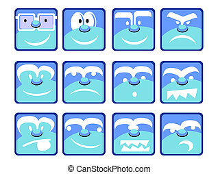 Blue Emotion Icons