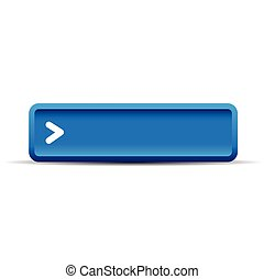 Blue empty button vector