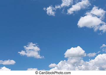 Blue Empty sky surface with minimal cloud