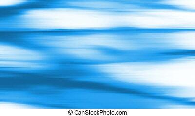 Blue energy streaks on white looping CG animated backdrop