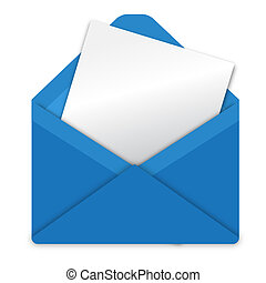 Blue envelope - Illustration, envelope from blue paper on...