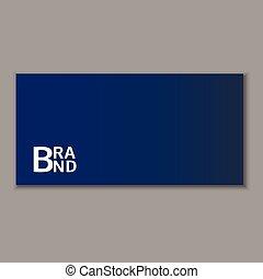 Blue envelope icon, realistic style