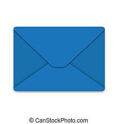 Blue envelope - Illustration, envelope from blue paper on ...