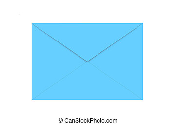Blue envelope isolated on white