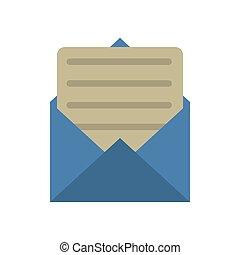 blue envelope paper letter email