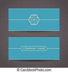 Blue Envelope Template
