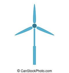 eolic energy wind - blue eolic energy wind over white...