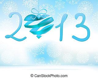 blue., +, eps8, anno, nuovo, 2013, felice