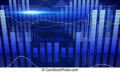 blue equalizer audio waveform loopable background