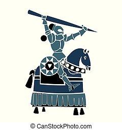 blue equestrian knight