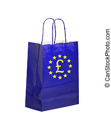 Political concept UK, Brexit. Europe going shopping