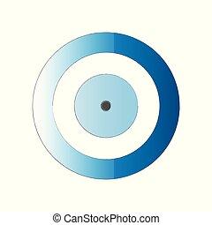 blue evil eye vector on white background
