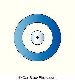 blue evil eye vector - protection symbol