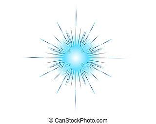 blue explosion on white background vector illustration