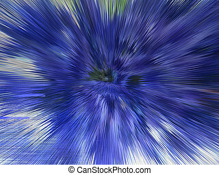 Blue explosion