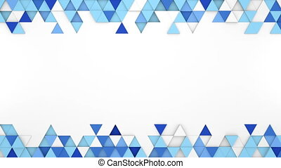 Blue extruded triangles 3D render loopable animation