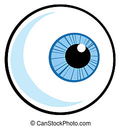 Eye Ball - Blue Eye Ball Cartoon Character