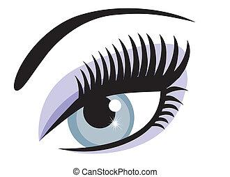 blue eye - vector blue eye