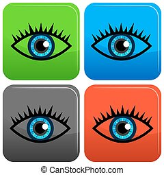 Blue Eye Icon Button