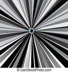 blue eye in black and white background