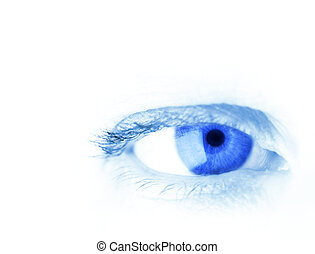 blue eye in close up