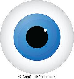 Blue Eye Isolated On White