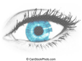 Blue eye - Point build up blue eye