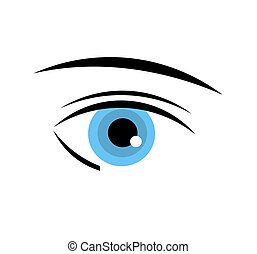 Blue eye - Pretty blue eye of woman. Vector illustration