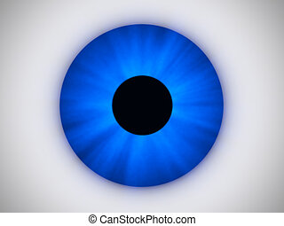 Blue Eye - this image generated with computer